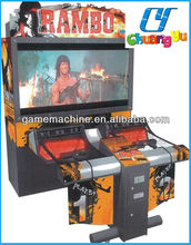 India Hot Sale With High Quality Electronic Simulator 52 LCD RAMBO Arcade Shooting Gun Game Machine