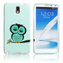 Soft tpu silicone cover protective skin shell night owl For Samsung Galaxy Note 3 N9000
