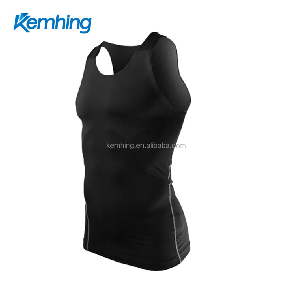 lycra fabric gym wear tanktop fitnes Sport Dri Fit Slim Tit Sportwear gym clothing custom tank top men