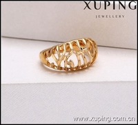 xuping fashion ring high quality new design 18K gold rings without stones jewelry 12701