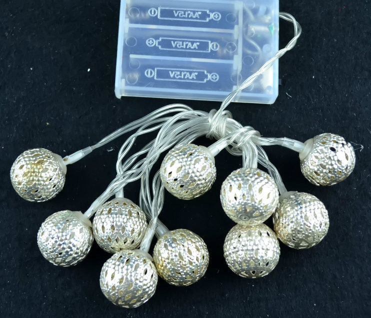 Manufacturers selling batteries strip light with spherical low-pressure interior decoration