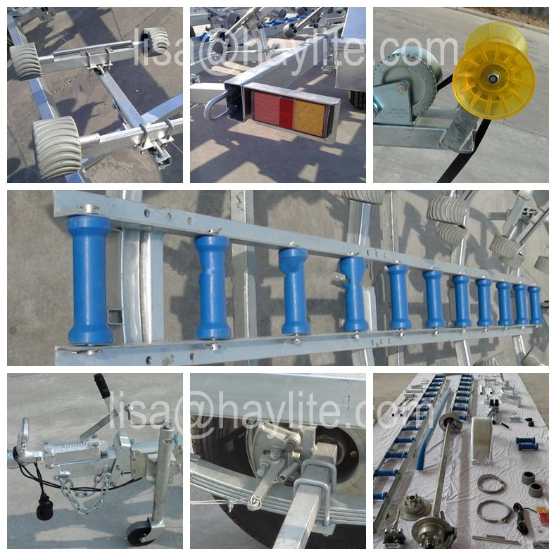 wholesale heavy duty roller galvanized roller boat trailers for 11-28ft boat