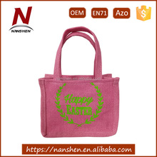 high quality wholesale burlap easter basket tote