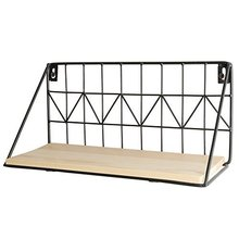 2 Set Floating <strong>Shelves</strong> Wall Mounted Rustic Metal Wire Storage <strong>Shelves</strong> for Picture Frames Collectibles