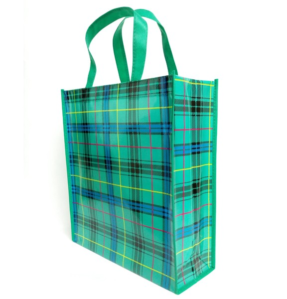 glossy opp film laminated shopping non woven tote bag