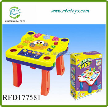New music educational learning toy with light baby music table