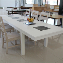 White Kitchen Room marble top dining tables and chairs