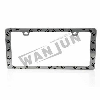 custom zinc alloy car license plate frames with design logo