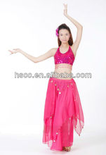 2014 shining Mesh Belly Dance costume for lady colorful dance dress