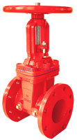 fire fighting 200PSI 175# FF flange A126 IBBM double disc OS&Y UL FM gate valve