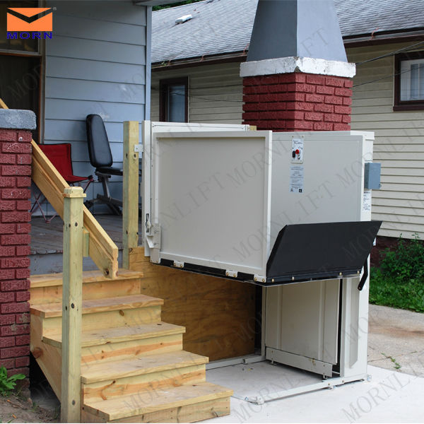 MORN outdoor vertical wheelchair lift for disabled people
