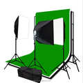 E27 5 in 1 lamp holder socket softbox lighting kit photo studio with muslin backdrops photography kit