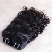 Ali express delivery wholesale tangle free DK Hair, 3 bundles 14inch virgin malaysian DK hair weave natural wavy