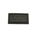 Factory price PVC soft black rubber label patch for garment accessories