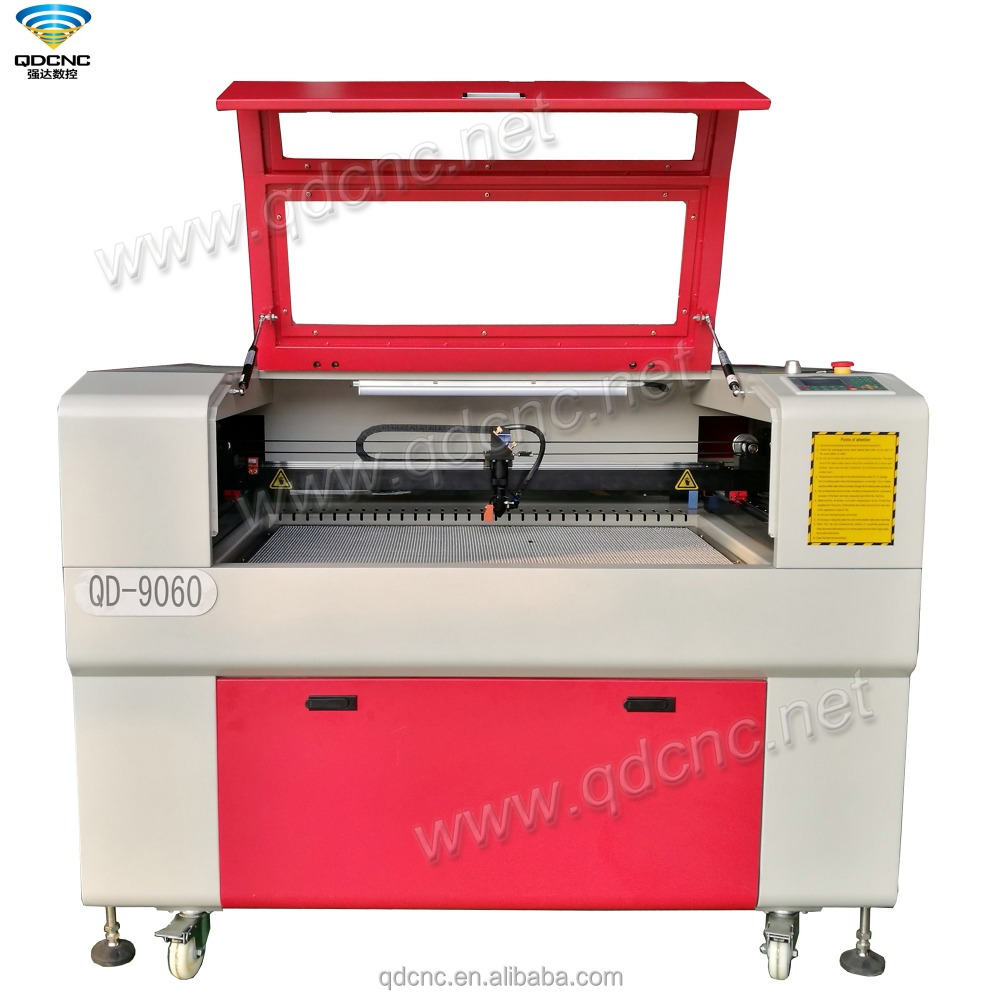 80 watt laser cutter 9060 laser engraving cutting machine price QD-9060 small acrylic laser engraver Two Years Warranty!