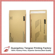 Customize color print kraft paper envelope wholesale