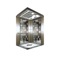 800kg Etched Mirror Elevators Residential Building Residential Elevator