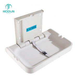 Plastic PE public bathroom toilet portable baby changing station