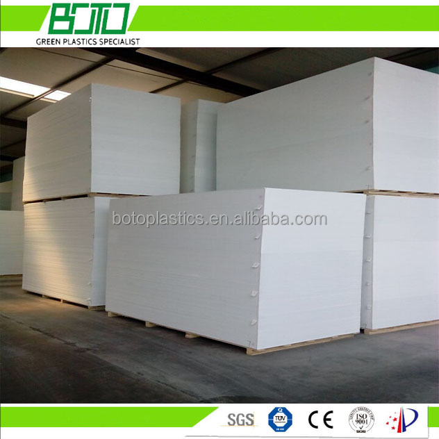 White pvc foam board with SGS for furniture carving design decoration