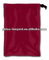 Promotional Red Cotton Drawstring Bags