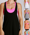 2017 custom tank top Fashion Summer Plain dyed Sleeveless Women gym vest