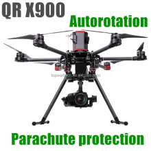 new professional QR X900 aerial aircraft GPS FPV autorotation parachute protection gas powered rc helicopter