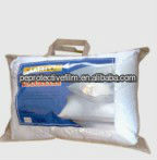 Clear 0.10mm PVC plastic pillow storage bag with non woven handles and zipper