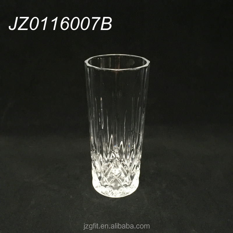 Elegant 220ml tall and thin glass drinking tumbler, glass water cup, glass drinkware for restaurant and home