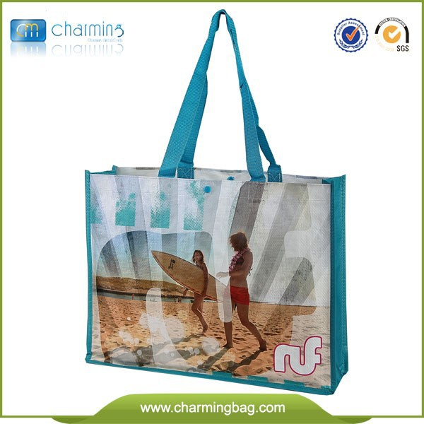 2015 Beautiful Fashion Lady reusable folding tote bag recyclable shopping bag pp woven giveaway tote bag