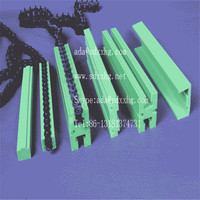 green UHMW PE guide/ wear resistance uhmw guide rail /high density polyethylene plastic