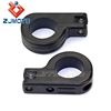 "Custom 1 1/2"" Foot Peg Clamp Black Aluminum Motorcycle Engine Guard Crash Bar Mounting Footpeg Clamps For Cafe Racer 750 VT750C"