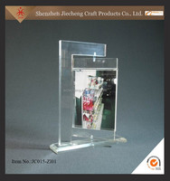 2015 new style stairs display rack acrylic menu holder