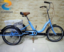 Cheap adult tricycle with 3 wheel bike used for family bike