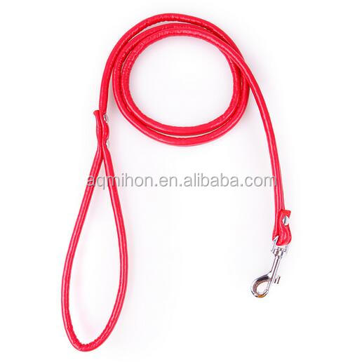 PU faux leather dog pet leash for small puppies