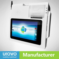 Tablet POS terminal with printer NFC Magcard Smart card /GPS /WCDMA /2D barcode /WiFi /Bluetooth/ Android 4.0 OS