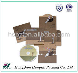 New design paper cd packaging with customize printing