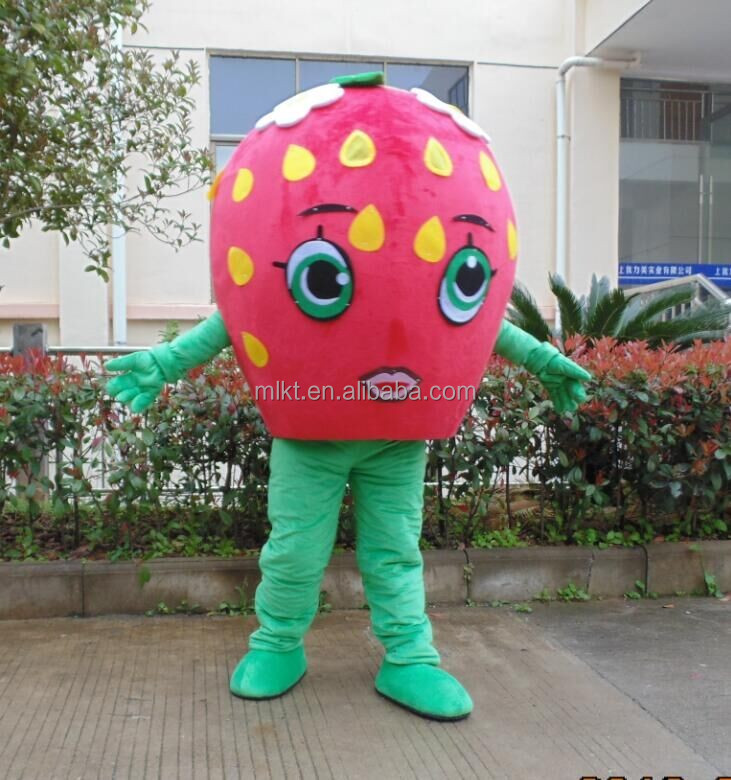 2016 cartoon toys character costume shopkins strawberry mascot