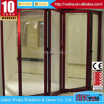 White or any color low price folding door glass