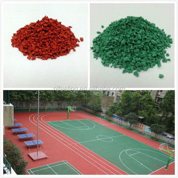 Outdoor Basketball Courts Flooring, Rubber Flooring For Outdoor Sports Court   FN D150107