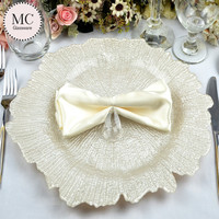 Wedding show charger plates wholesale with glitter