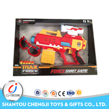 Hot sale kids funny plastic soft electric absorbent bullet gun