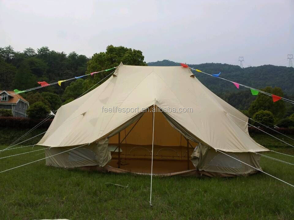 Feelife Brand double roof 100% cotton canvas luxury safari bell <strong>tent</strong> for sale