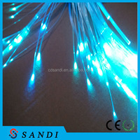 Plastic PMMA end glow fiber optic lighting for banquet hall decoration
