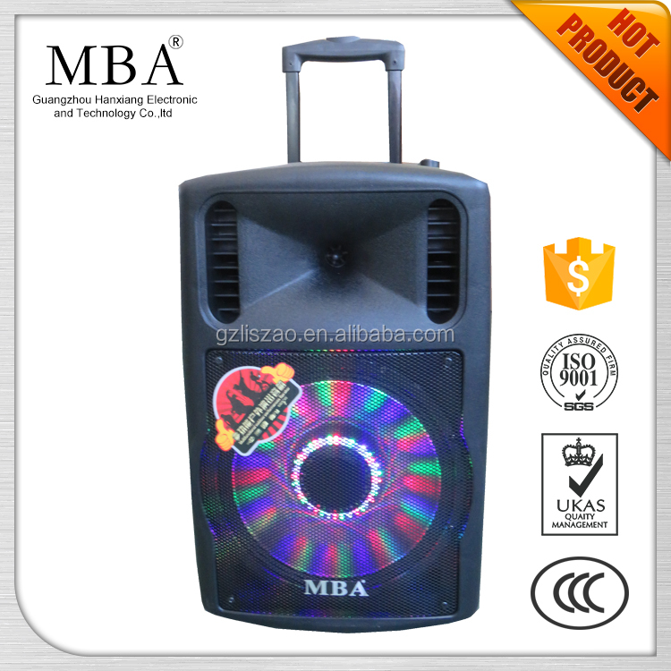 mba mobile active stereo pa system speaker cabinet 12
