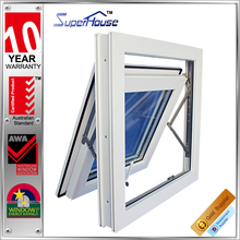 Cheay quality UPVC Euro style top hung window in hot sale