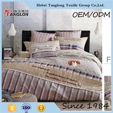 Cheap king size bedsheet cotton comforter set luxury wedding 100% cotton twin duvet cover printed bright color bedding set