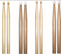 professional custom logo printed oak drum sticks wooden drumsticks for sale
