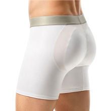 Famous Brand Polyamide Men Padded Underwear Men Padded Bottoms Enhancer Boxer Brief
