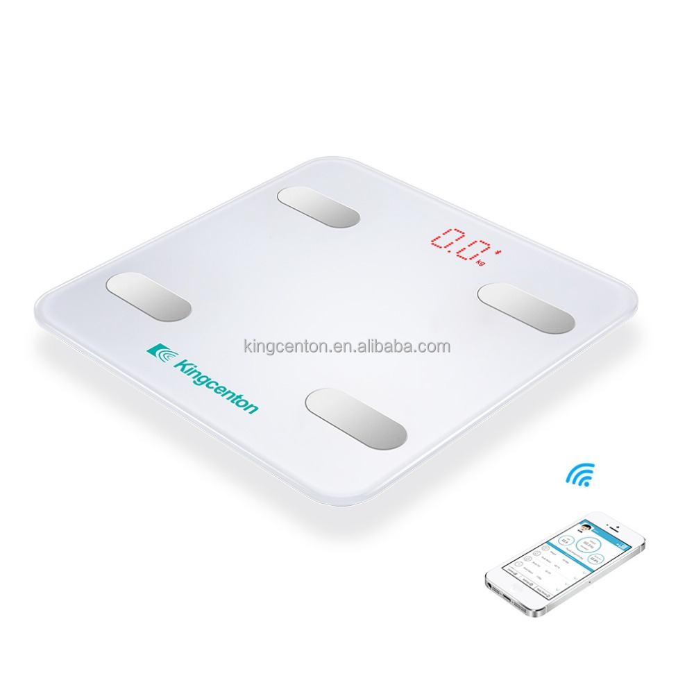 2017 BIA technology electronic body fat analyzer digital weighing bathroom scale 180kg bluetooth scale