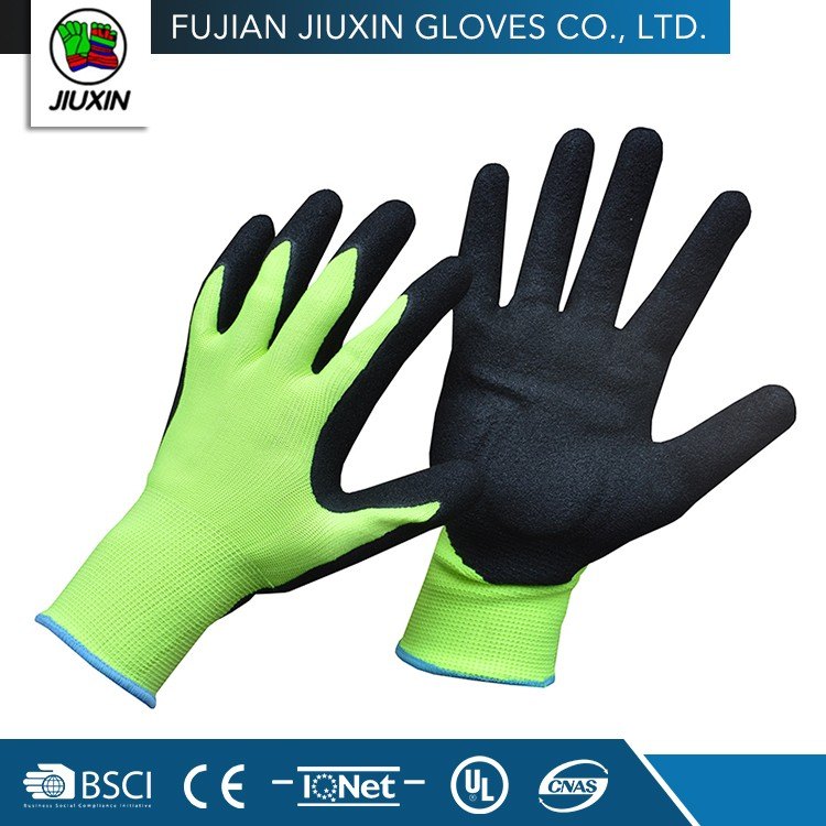 JX68F615A High Quality Safety Working Industrial Cheap Nitrile Gloves